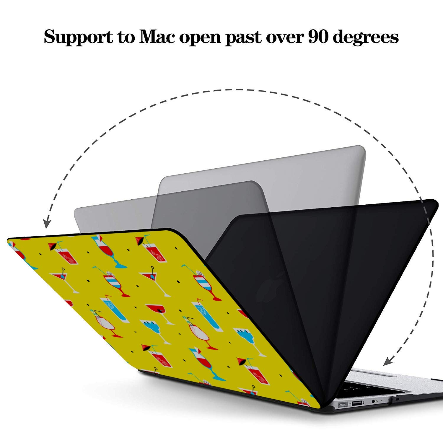MacBook Air Shell Summer Sour Sweet Strawberry Juice Plastic Hard Shell Compatible Mac Air 11 Pro 13 15 MacBook Pro Protective Case Protection for MacBook 2016-2019 Version