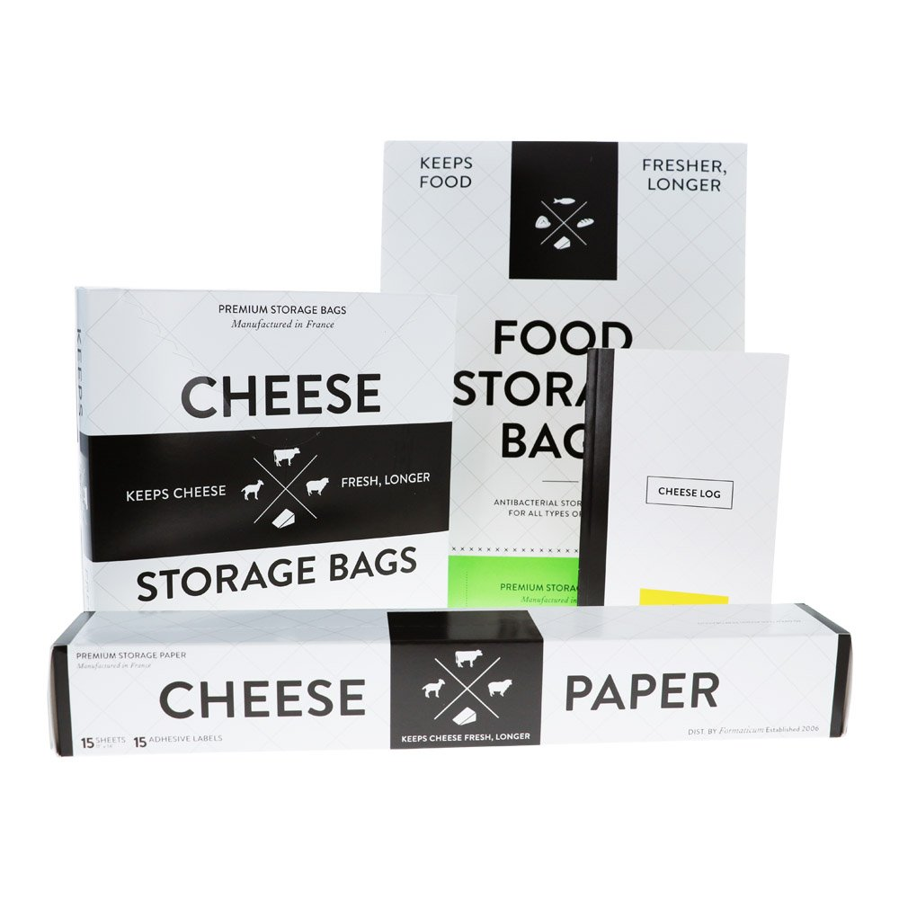 Homeplace Cucina Professional Cheese Tasting/Storing Kit - Includes Cheese Taste Log, Cheese Paper, and Storage Bags