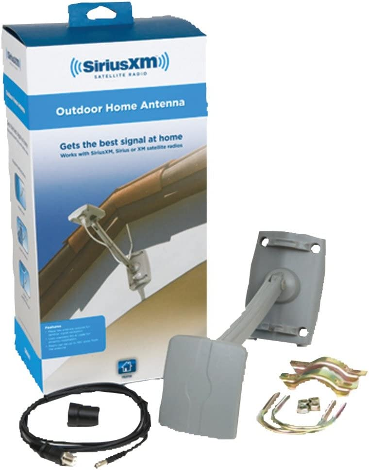 1 - Sirius(R) Universal Outdoor Home Antenna, Compatible with single-input Sirius(R) home tuners & dock & play receivers, Mounts on a mast, roof or wall, SXHA1
