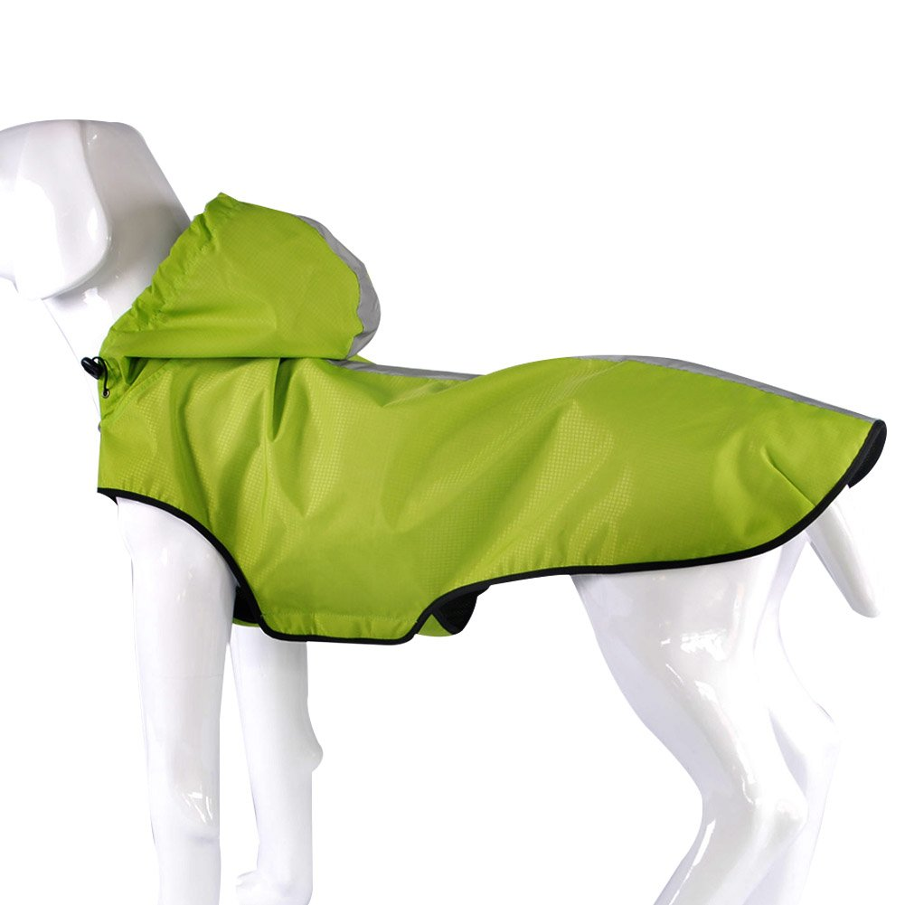 Fosinz Outdoor Water-resistant Dog Clothes Dog Raincoat Dog Pet Jacket (XL, Green) by Fosinz