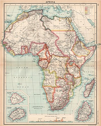 Amazon.com: AFRICA shows 1911 Neukamerun border changes. Equatorial ...