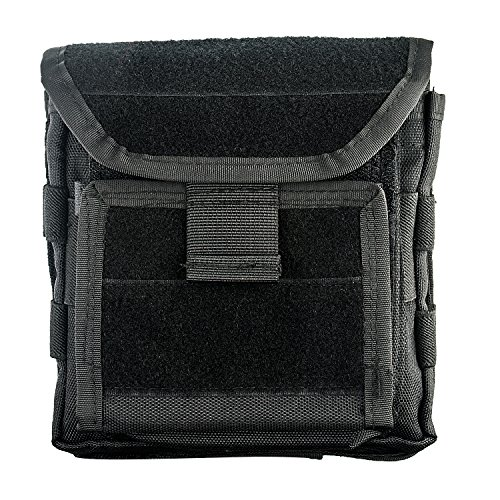 CVLIFE Multifunctional Tactical Pouch MOLLE Admin Bag EDC Security Pack Carry Accessory Kit Belt Loops Waist Bag for Carrying Mag, Map, Flashlight