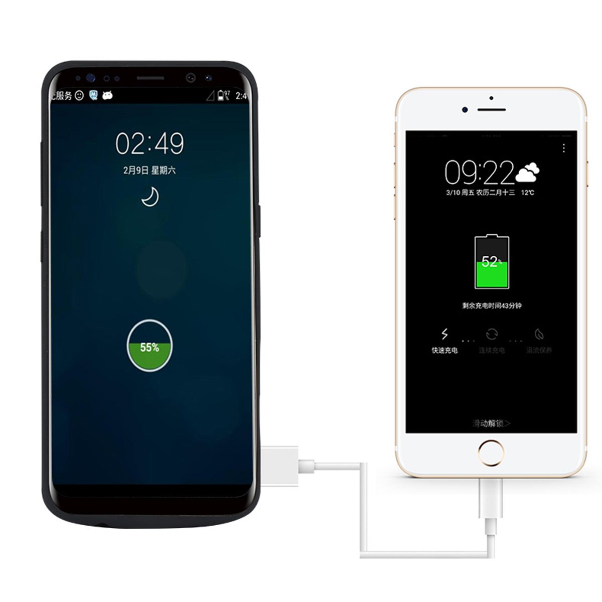Funda Batería Samsung Galaxy S8 Plus Battery Case 6500mAh Power Bank Carcasa Cargador Battery Recargable Externa Funda Ultra Fin Power Bank Battery ...