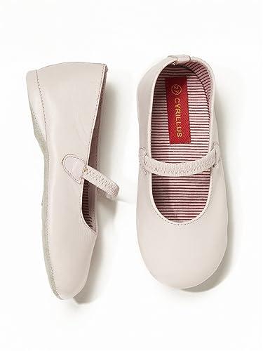 Acheter Authentic nouvelles promotions meilleur endroit pour Cyrillus Chaussons Fille Cuir Style Babies 34 Rose: Amazon ...