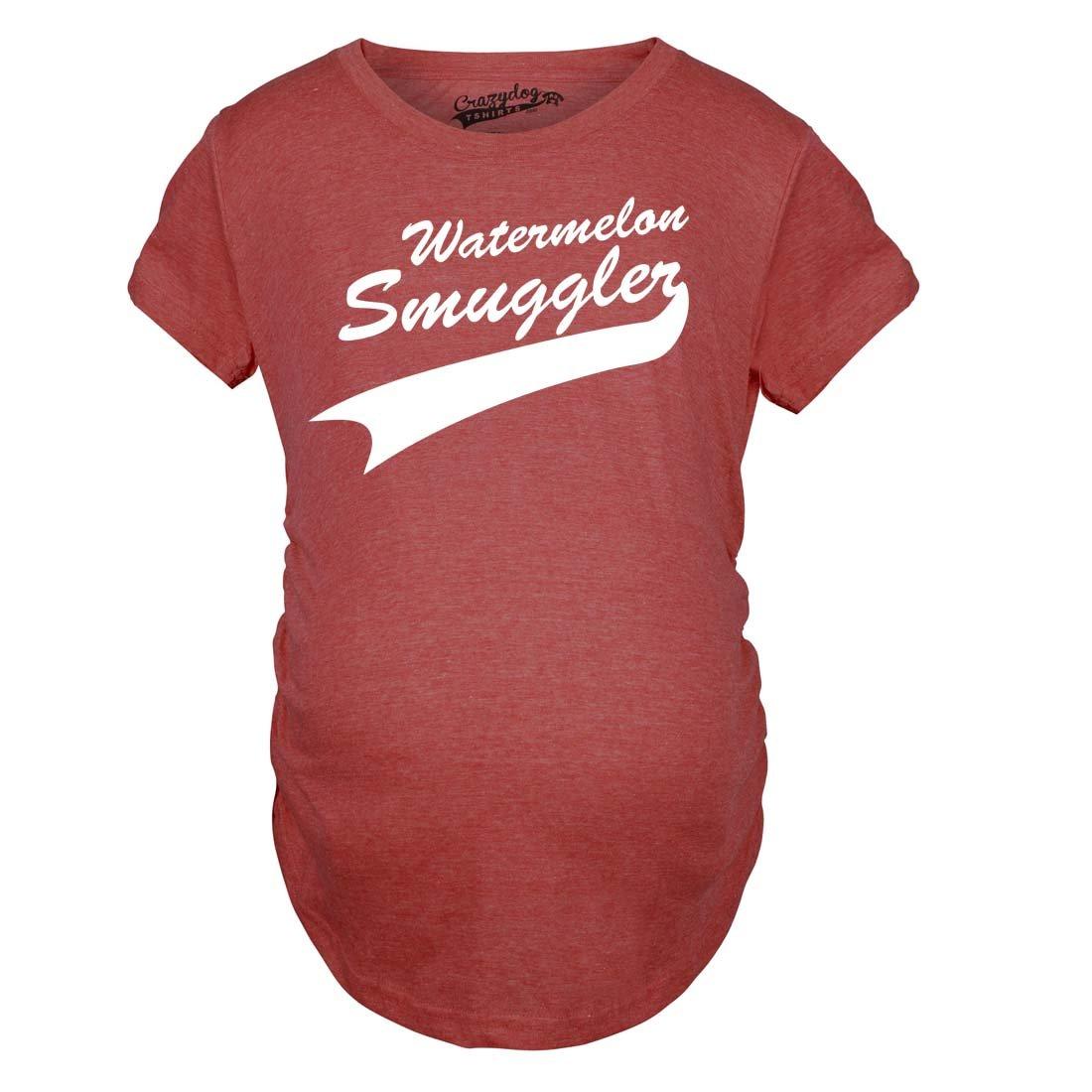 Maternity Watermelon Smuggler Shirt Funny Pregnancy T shirts Announcement Ideas Crazy Dog Tshirts 99watermelonsmuggler