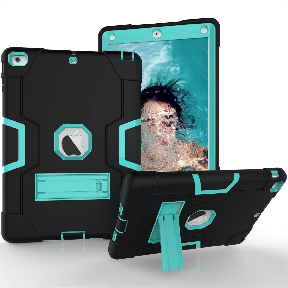 人気特価激安 AICEDA iPad Air 5に対応, iPad 5ケース Aqua 耐傷性 + 耐衝撃性カバー グリップケース iPad Air iPad 5に対応, D40D-BP-323 Black + Aqua B07L4PFVVC, ブルークウォッチカンパニー:fd390520 --- a0267596.xsph.ru
