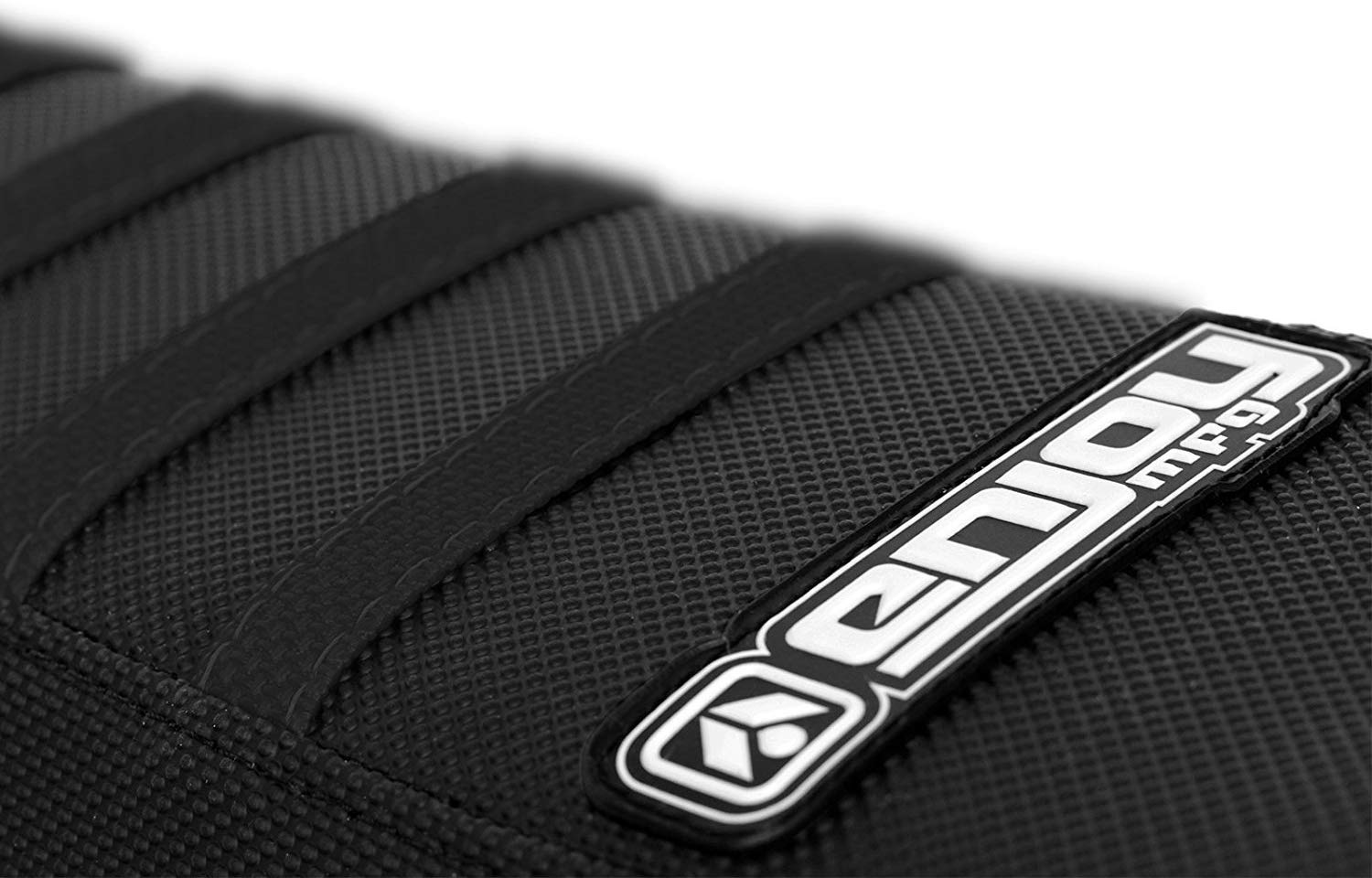Enjoy MFG Seat Cover Compatible Fit for 2016-2018 Husqvarna 125-450 FC TC ALL BLACK WITH BLACK RIBS