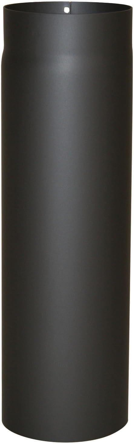 Kamino - Flam – Tubo para chimenea y estufa de leña, Conducto de humos – resistente a altas temperaturas, Antracita, Ø 150 mm/longitud 500 mm