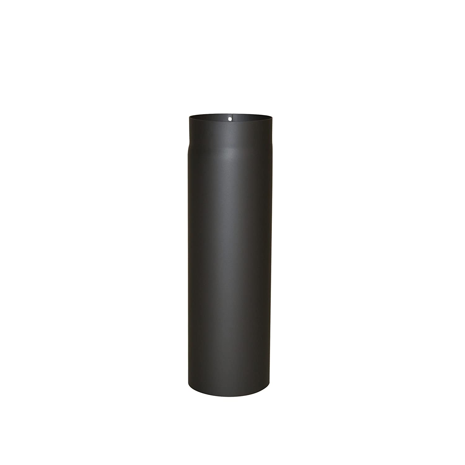 Kamino - Flam Ø 130 mm Steel Stove Pipe, Heat Resistant Senotherm Coating Flue Pipe for Stoves, approx. 500 mm Straight Length Chimney Pipe, Single Wall Pipe EN 1856-2 Standard, Black 331751