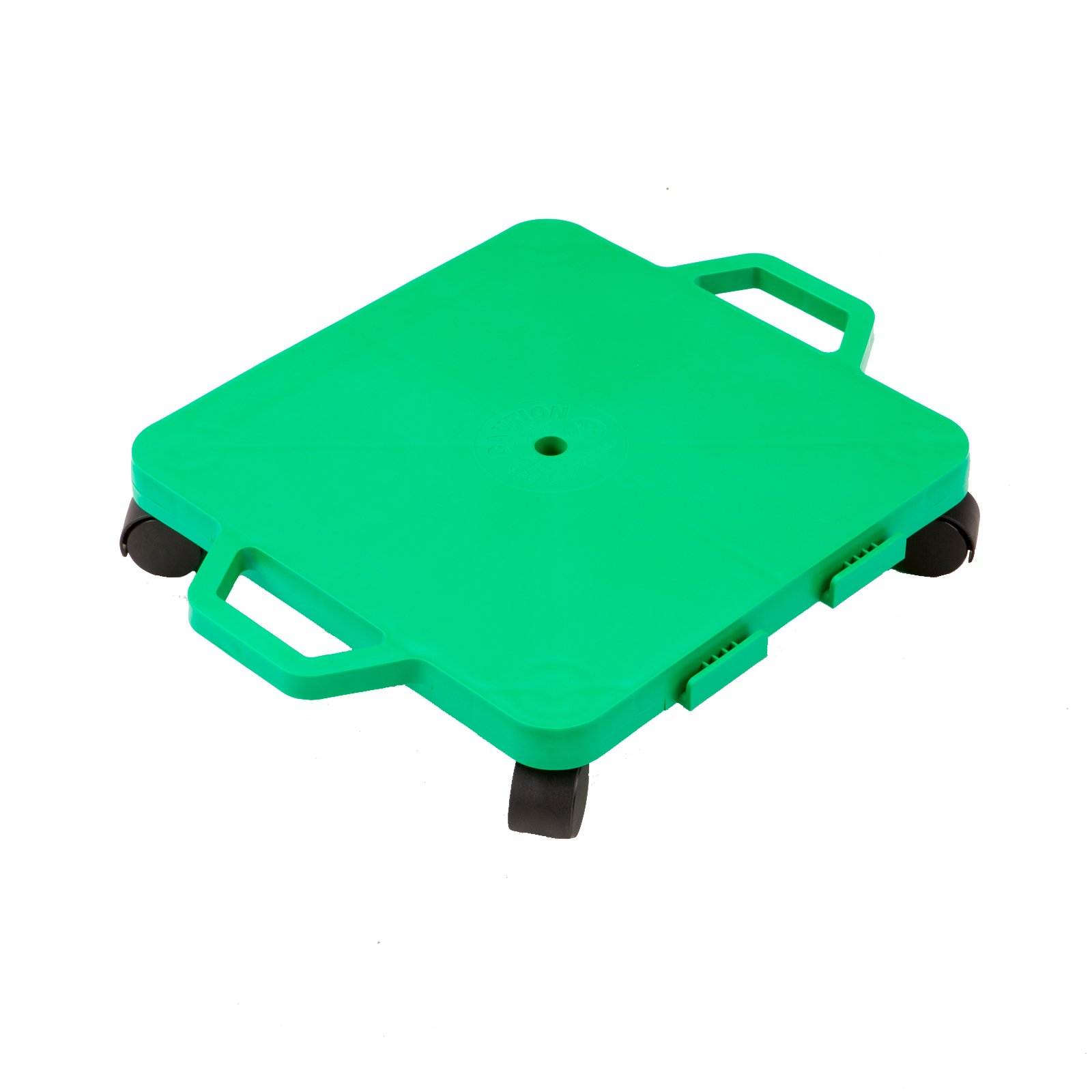 Cosom Scooter Board, 16 Inch Children's Sit & Scoot Board With 2 Inch Non-Marring Nylon Casters & Safety Guards for Physical Education Class, Sliding Boards with Safety Handles, Green