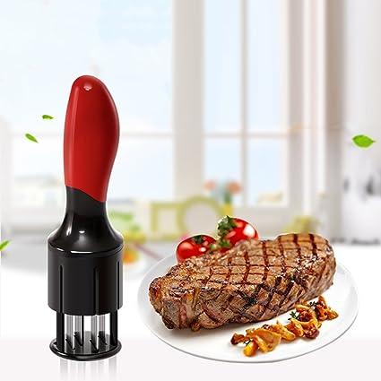 Fleischzartmacher Fleischstecher Steaker Grill Marinieren Edelstahl 56 Klingen