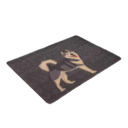 asiproper Pet Mat Cat Litter Pad Breathable Pet Dog Seat Cushion Cover (Husky L)