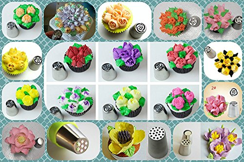 Russian Piping Tips 66 Pcs Icing Frosting Tips Cake