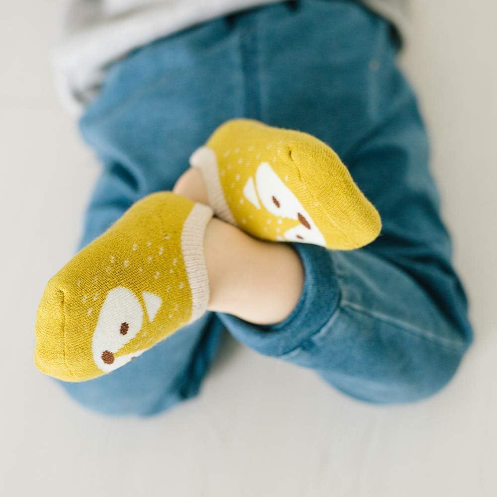 Z-Chen 5 Pack Baby Kids No Show Cotton Socks Ankle Socks Anti Slip 0-1 Years