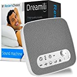 White Noise Sound Machine – Sleep Therapy Noise Maker Plays White Noise, Ocean, Storm, Rainforest, More – 7 Soothing Sounds Machine with USB Port & Sleep Timers