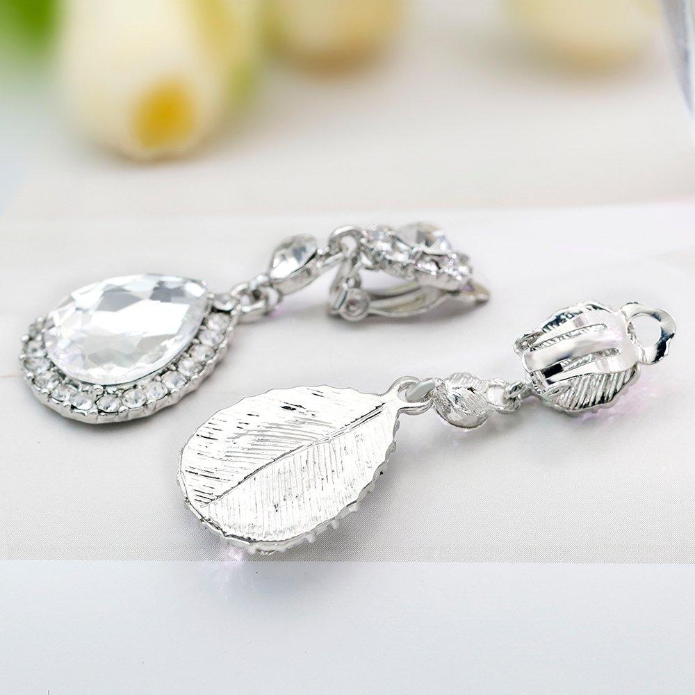 a254d922e Gorgeous Austrian Cut Crystal Rhinestone Pierced Wedding Bridal Teardrop  Drop Dangle Earrings - dangleearrings33 < Drop & Dangle < Clothing, Shoes &  Jewelry ...