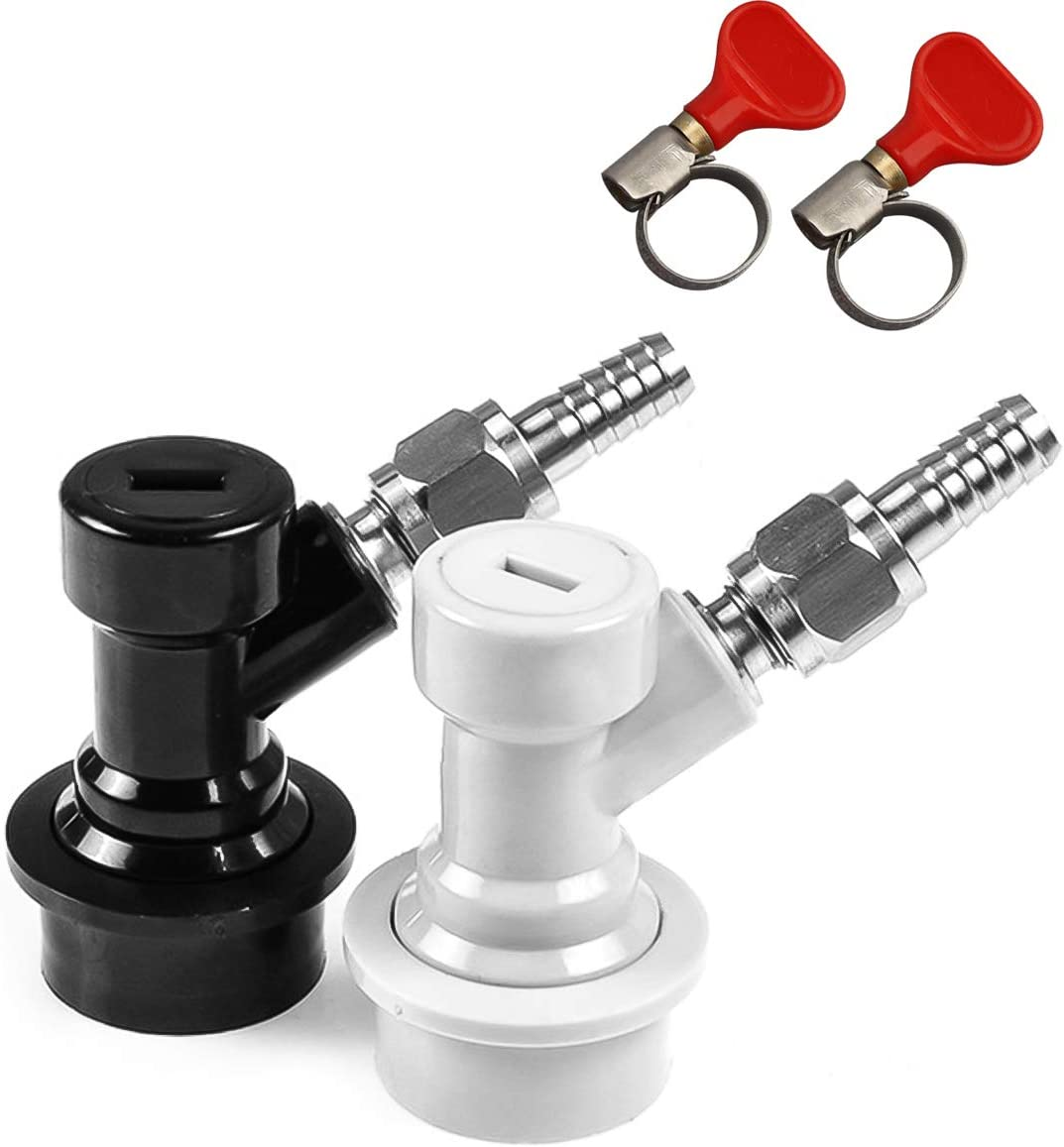 Jansamn BF BLCP-CS-WC Disconnect MFL 1/4 Thread, Ball Lock Fittings, with Hos Keg Coupler, 2 PCS, Gery