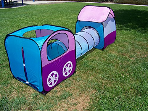 Girls Pop up Play Tent Set with Tunnel, Play Ground, Room, New Child Play Hut. Inside – Outside.