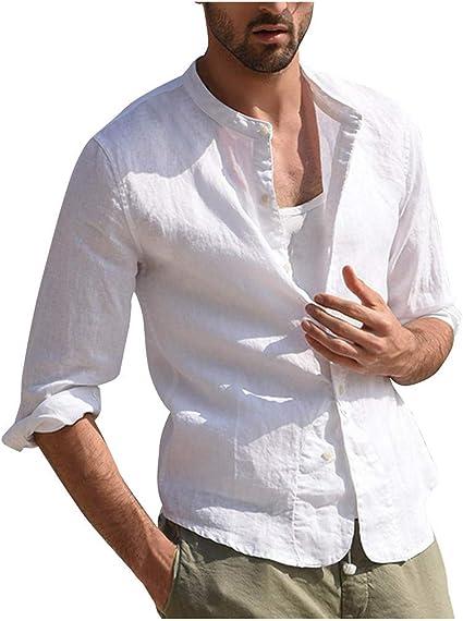 Sunnywill - Camiseta de Manga Corta para Hombre, diseño Vintage de Tres Cuartos, Color Blanco y Gris L Blanco: Amazon.es: Relojes