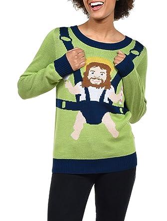 Amazoncom Tipsy Elves Womens Sweet Baby Jesus Christmas Sweater
