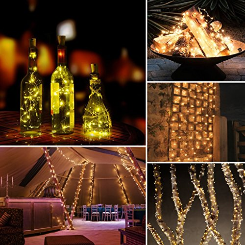 AMIR Solar String Lights,72ft 8 Modes Copper Wire Lights, 200 LED Starry Lights, Waterproof IP65 Fairy Christams Decorative Lights for Outdoor, Wedding, Homes, Party, Halloween (Warm White) by AMIR (Image #4)