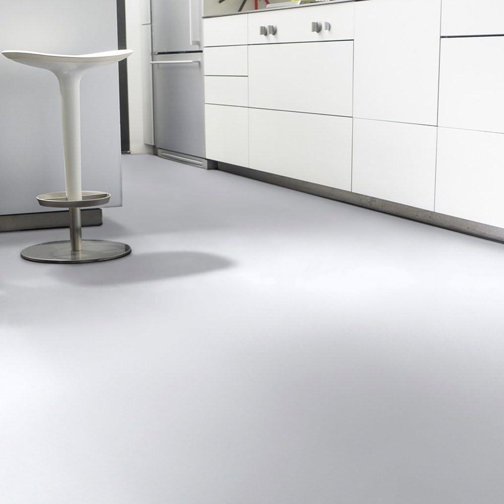 Gr/ö/ße:1.50x2.00 m L/änge variabel Meterware livingfloor/® PVC Bodenbelag Fotohintergrund Einfarbig Uni Weiss 2m Breite