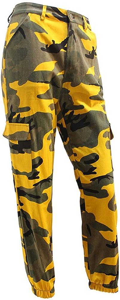hibote Mujeres Hombres Moda Casual Camo Camuflaje Pantalones de ...
