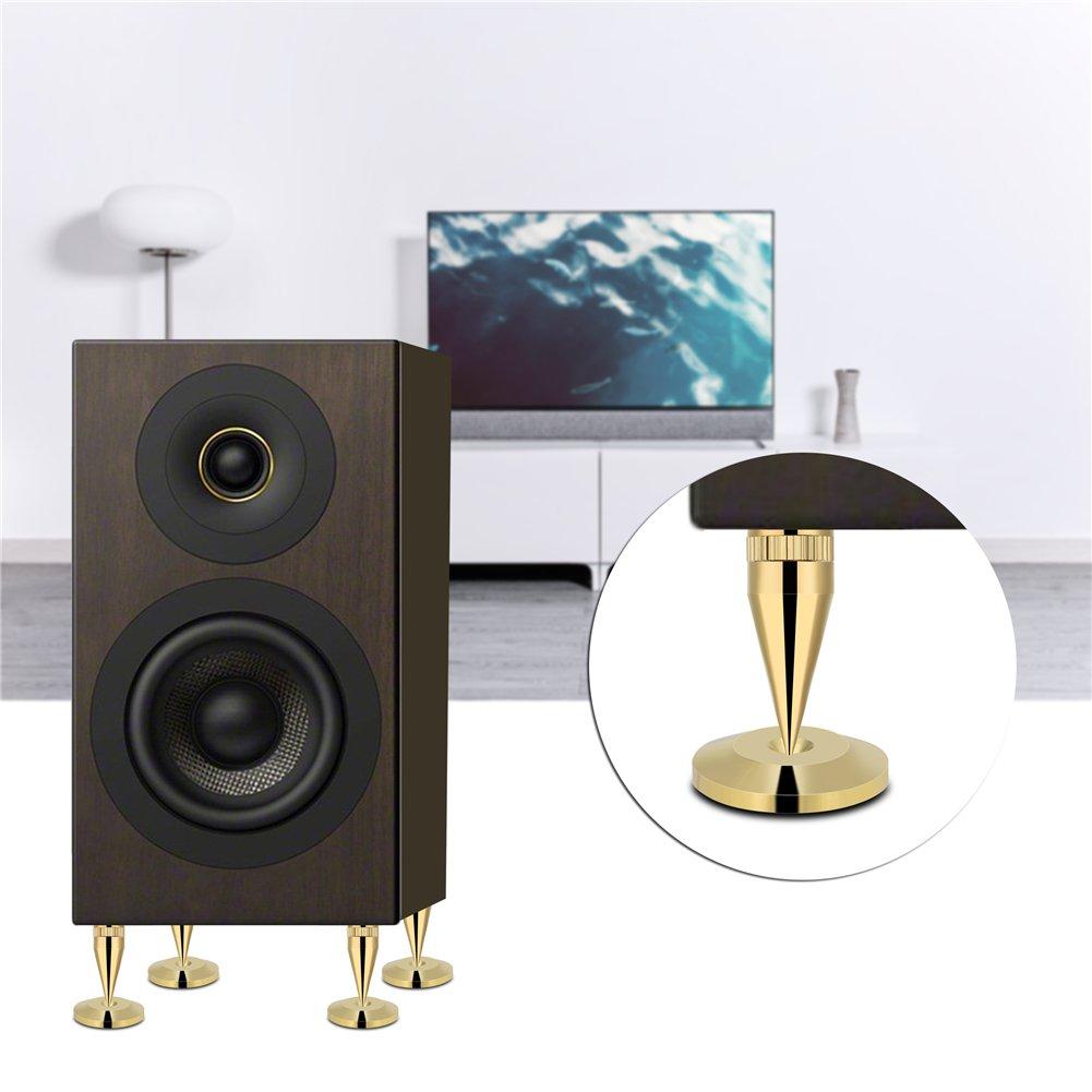 CynKen 8PCS M636 Speaker Spike Isolation Spike Stand Foot Speaker Cone Base Pads