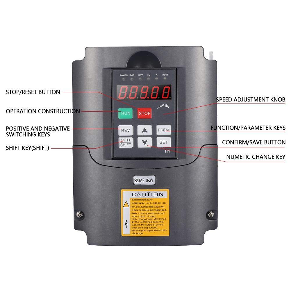 Frequency Converter 220V 3KW Single-phase Inverter Output 3-Phase Frequency Inverter Variable Frequency Drive Inverter
