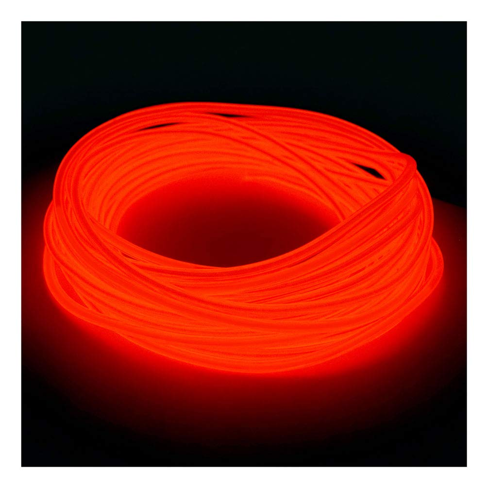 5mm EL Wire Kit - Orange - 20 FT Premium from GlowCity