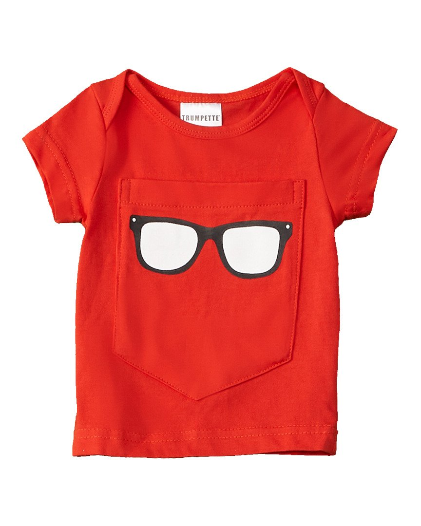 Trumpette Boys Big Pocket Sunglasses Tee, 6-12M