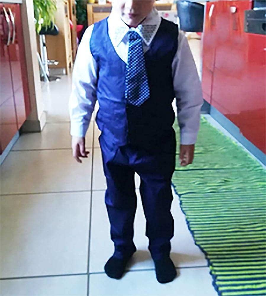 Bebé Suit 4 Piezas Conjunto de Traje para Niños Pequeños Camisa de Manga Larga + Pantalones + Chaleco + Corbata para Ceremonia Bautizo 2-3 Años: Amazon.es: Ropa y accesorios