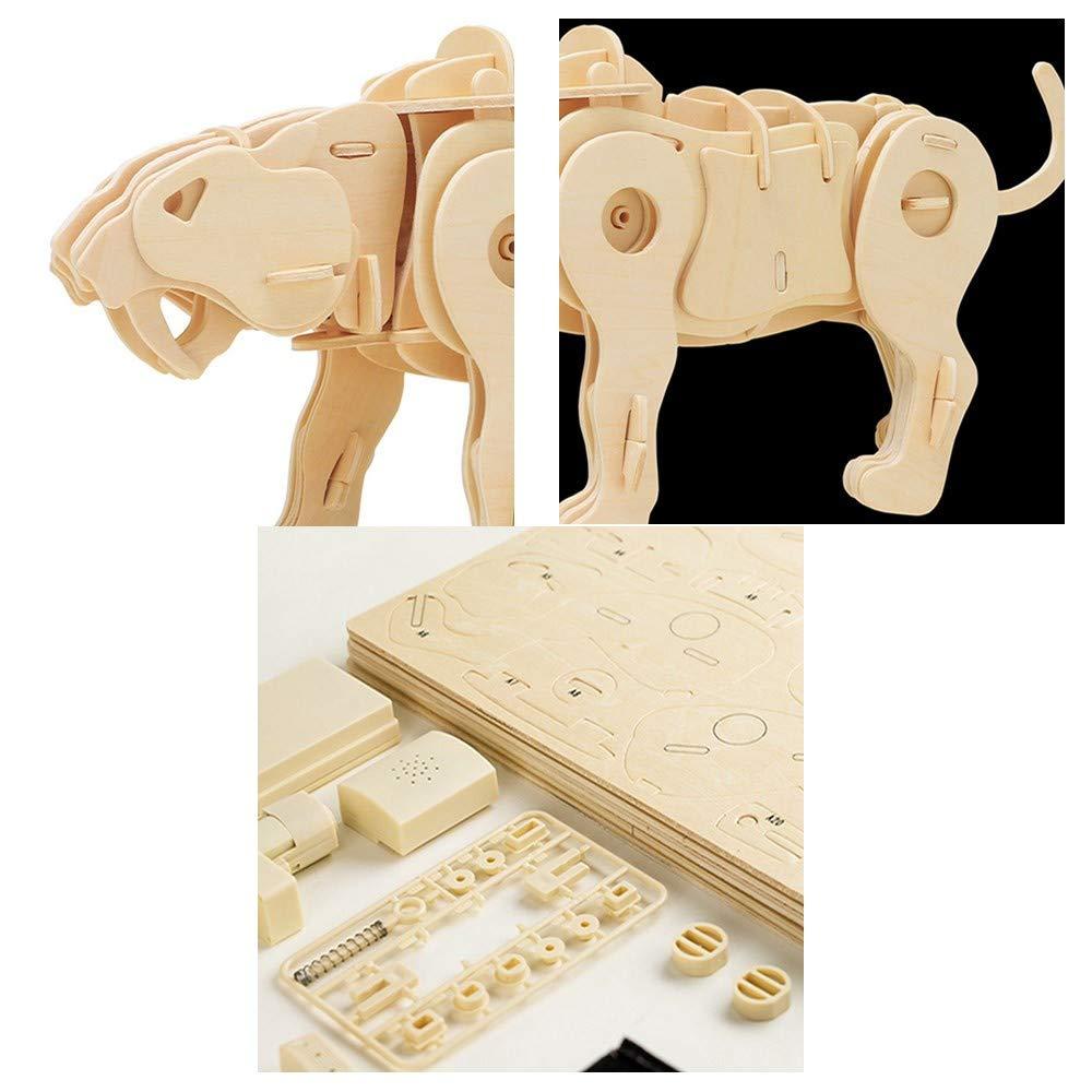 Sunshine 3D Puzzle Tridimensionale, Tridimensionale, Tridimensionale, Simulazione Modello Animale Fai da Te in Legno Giocattoli assemblati, walkable a Comando vocale Giocattoli, può Essere Dipinto, Puzzle 1ca170