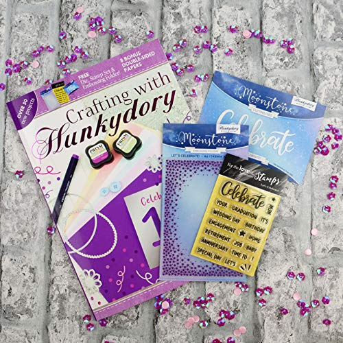 Hunkydory 10th Anniversary Edition Magazine Including Embossing Folder and Stamps