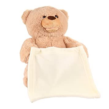 Fastdirect Nounours Coucou Ours En Peluche Parlante Ultra Douce, Teddy Bear  Cache Cache Jeu