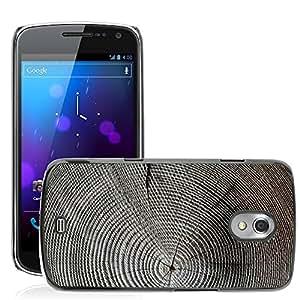 Etui Housse Coque de Protection Cover Rigide pour // M00150157 Estructura de madera de los anillos // Samsung Galaxy Nexus GT-i9250 i9250