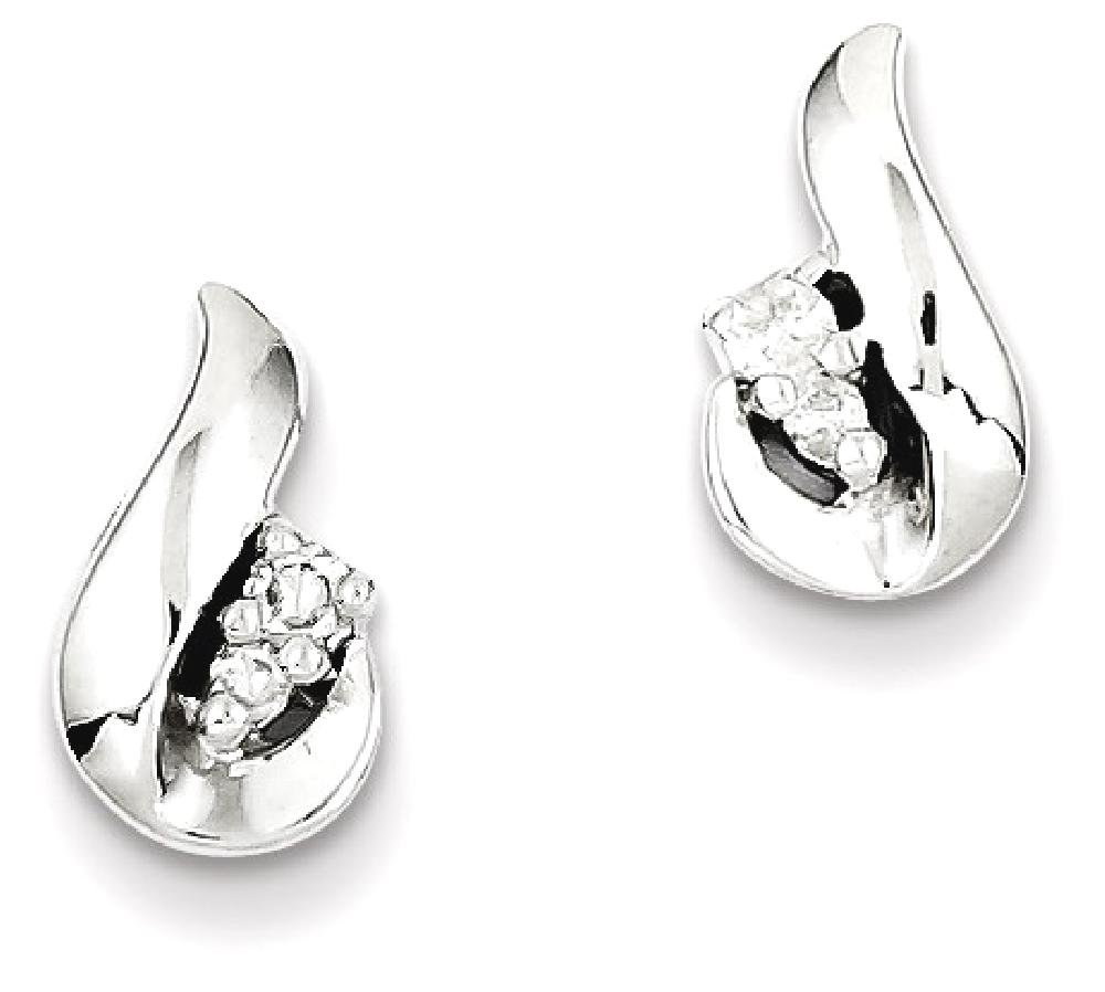 ICE CARATS 925 Sterling Silver Diamond Teardrop Post Stud Ball Button Earrings Fine Jewelry Gift Set For Women Heart