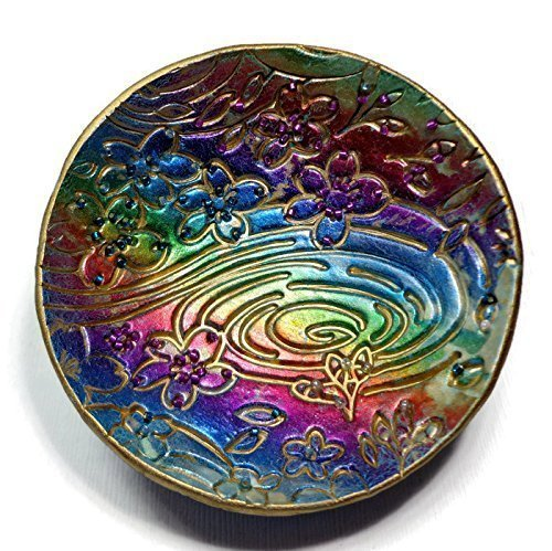 Amazon Com Rainbow Ring Dish Mother S Day Keepsakes Polymer Clay