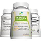 BIO NATURAL LABS Turmeric Curcumin with 95% Curcuminoids and BioPerine with Black Pepper Extract for Increased Bioavailability & Better Absorption (60 Capsules) Antioxidant for Joints & Cardiovascular