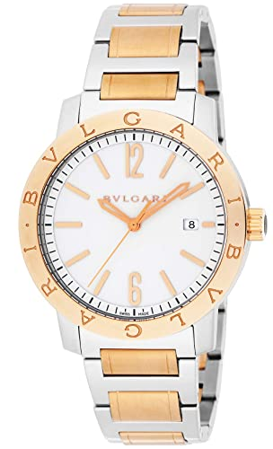 Bvlgari reloj Bulgari Bulgari blanco Dial Automatic Winding k18pg/acero inoxidable caso bb41wspgd: Amazon.es: Relojes