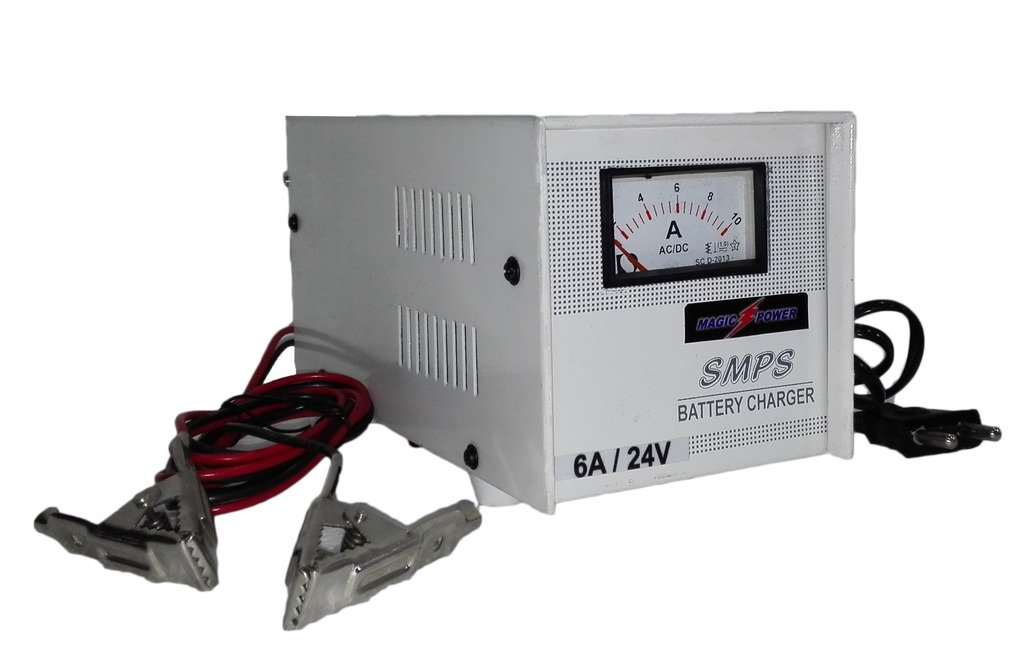 24Volts 5Ampere SMPS Alkaline/Lead Acid Battery Charger: Amazon.in ...