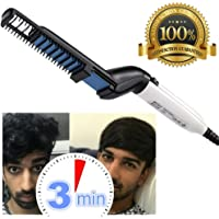 MQFORU Hair Straightener for Men, Electric Hair Comb, Quick Beard Straightening Comb, Styling Comb Hair Curlers, Magic Massage Comb Multi-functional Electric Hair Tool