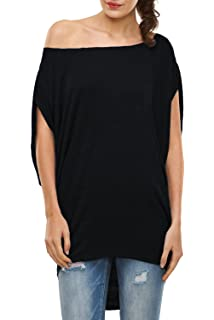 f7527c6e761d6b GLOSTORY Women s Casual Off Shoulder T Shirts Blouse and Short Sleeve Plus  Size Tops