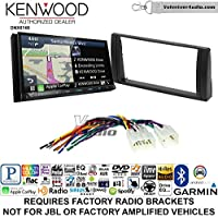 Volunteer Audio Kenwood DNX874S Double Din Radio Install Kit with GPS Navigation Apple CarPlay Android Auto Fits 2002-2006 Non Amplified Toyota Camry