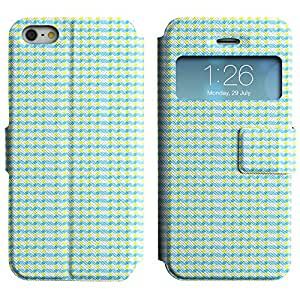 FlareStar Colour Printing cute pattern Voltear PU Funda de cuero caso para Apple iPhone 5 / iPhone 5S