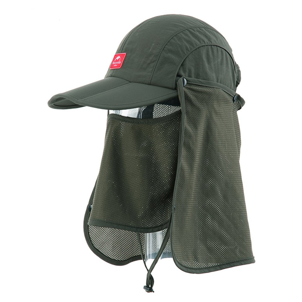 Naturehike Unisex Hat Quick-dry Foldable Cap Sunhat Topee(Army green)