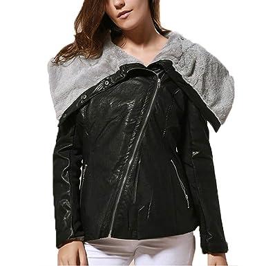 Accesorios es De Sin Formal Cuero Invierno Ashop Mujer Mujer Amazon Ropa Jacket Chaquetas Casual Y Capucha Abrigo a6wBx