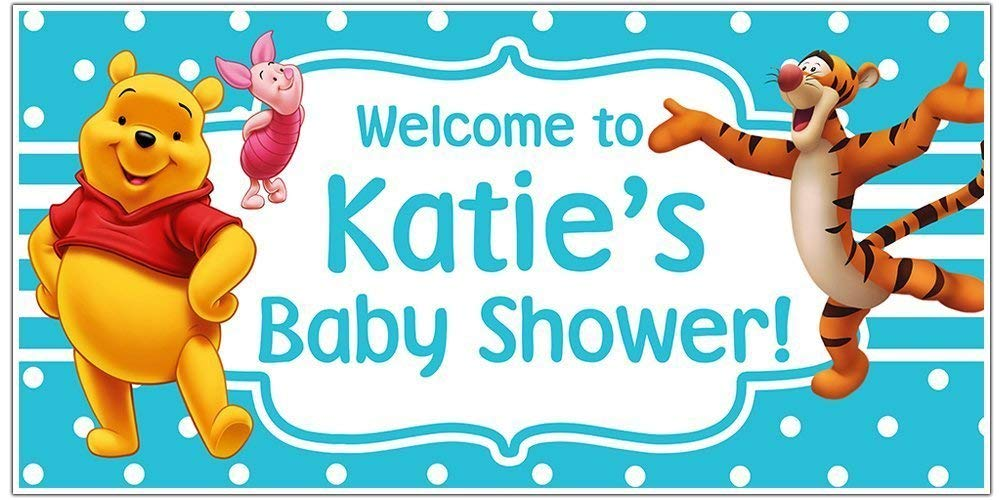 Winnie the Pooh Baby Shower Banner Personalized Party Decoration