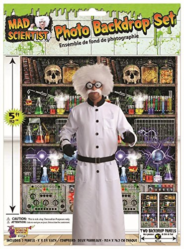 Fancy Me Large Halloween Mad Science Scientist Lab Party Celebration Backdrop Wall Decoration Photo Booth Selfie Station]()