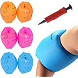 4 Pack Float Sleeves Swimming Armbands with 2 Pack Air Pump for Children and Adult Swallowzy Inflatable Swim Rollup Arm Bands